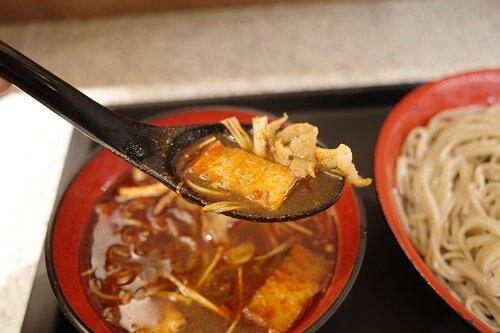 富士そば代々木八幡店でしびから火鍋つけ麺